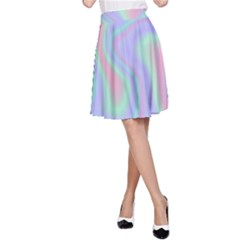 Holographic Design A Line Skirt