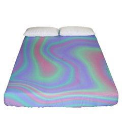 Holographic Design Fitted Sheet (queen Size) by tarastyle