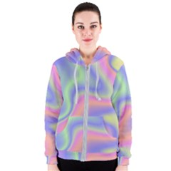 Holographic Design Women s Zipper Hoodie by tarastyle