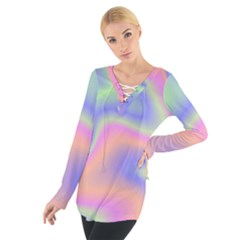 Holographic Design Tie Up Tee