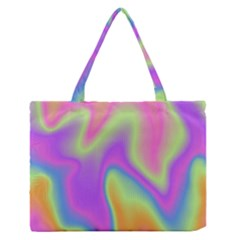 Holographic Design Zipper Medium Tote Bag by tarastyle