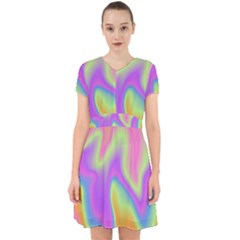 Holographic Design Adorable In Chiffon Dress