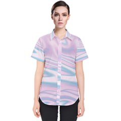 Holographic Design Women s Short Sleeve Shirt by tarastyle