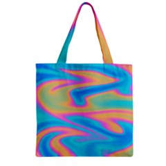Holographic Design Zipper Grocery Tote Bag by tarastyle