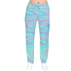 Holographic Design Drawstring Pants by tarastyle