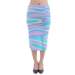 Holographic Design Midi Pencil Skirt by tarastyle