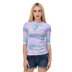 Holographic Design Quarter Sleeve Raglan Tee by tarastyle