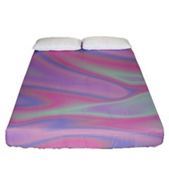 Holographic Design Fitted Sheet (queen Size)
