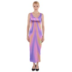 Holographic Design Fitted Maxi Dress