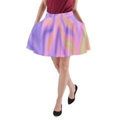 Holographic Design A Line Pocket Skirt