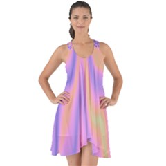 Holographic Design Show Some Back Chiffon Dress