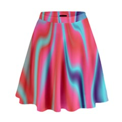 Holographic Design High Waist Skirt by tarastyle