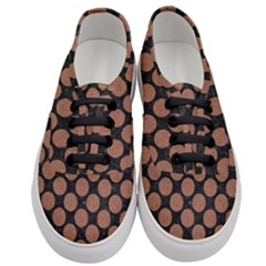 Circles2 Black Marble & Brown Denim (r) Women s Classic Low Top Sneakers
