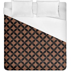 Circles3 Black Marble & Brown Denim Duvet Cover (king Size) by trendistuff