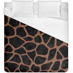 Skin1 Black Marble & Brown Denim Duvet Cover (king Size) by trendistuff