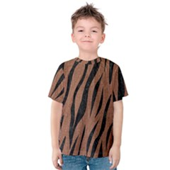 Skin3 Black Marble & Brown Denim Kids  Cotton Tee