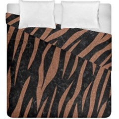 Skin3 Black Marble & Brown Denim (r) Duvet Cover Double Side (king Size) by trendistuff