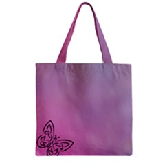 Butterfly Zipper Grocery Tote Bag