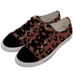 Skin5 Black Marble & Brown Denim (r) Men s Low Top Canvas Sneakers by trendistuff