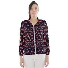 Floral Skulls In The Darkest Environment Wind Breaker (women) by pepitasart