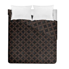 Circles3 Black Marble & Dark Brown Wood (r) Duvet Cover Double Side (full/ Double Size)