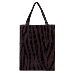 Skin4 Black Marble & Dark Brown Wood (r) Classic Tote Bag by trendistuff