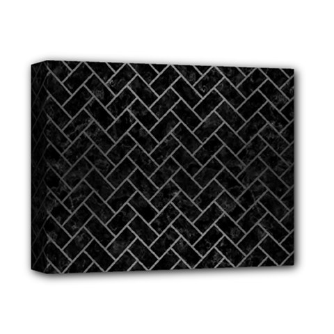 Brick2 Black Marble & Gray Brushed Metal (r) Deluxe Canvas 14  X 11  by trendistuff