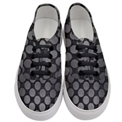 Circles2 Black Marble & Gray Brushed Metal (r) Women s Classic Low Top Sneakers