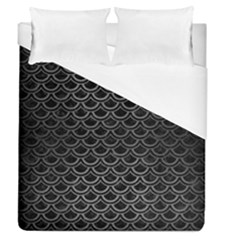 Scales2 Black Marble & Gray Brushed Metal (r) Duvet Cover (queen Size) by trendistuff