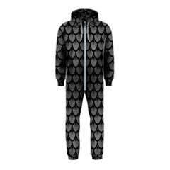 Scales3 Black Marble & Gray Brushed Metal Hooded Jumpsuit (kids) by trendistuff