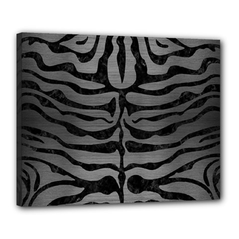 Skin2 Black Marble & Gray Brushed Metal Canvas 20  X 16  by trendistuff