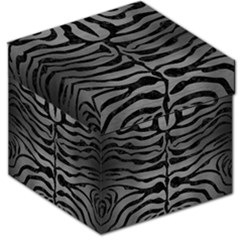 Skin2 Black Marble & Gray Brushed Metal Storage Stool 12