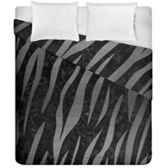 Skin3 Black Marble & Gray Brushed Metal (r) Duvet Cover Double Side (california King Size) by trendistuff