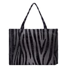 Skin4 Black Marble & Gray Brushed Metal (r) Medium Tote Bag by trendistuff