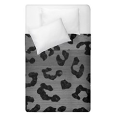 Skin5 Black Marble & Gray Brushed Metal (r) Duvet Cover Double Side (single Size) by trendistuff