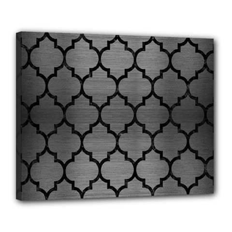 Tile1 Black Marble & Gray Brushed Metal Canvas 20  X 16  by trendistuff
