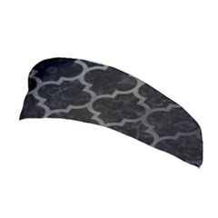 Tile1 Black Marble & Gray Brushed Metal (r) Stretchable Headband