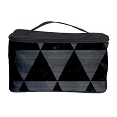 Triangle3 Black Marble & Gray Brushed Metal Cosmetic Storage Case