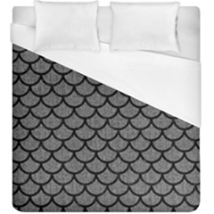 Scales1 Black Marble & Gray Denim Duvet Cover (king Size) by trendistuff
