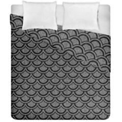 Scales2 Black Marble & Gray Denim Duvet Cover Double Side (california King Size) by trendistuff