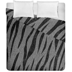Skin3 Black Marble & Gray Denim Duvet Cover Double Side (california King Size) by trendistuff