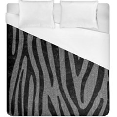 Skin4 Black Marble & Gray Denim (r) Duvet Cover (king Size) by trendistuff