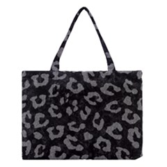Skin5 Black Marble & Gray Denim Medium Tote Bag by trendistuff