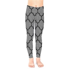 Tile1 Black Marble & Gray Denim Kids  Legging