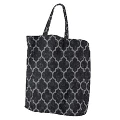 Tile1 Black Marble & Gray Denim (r) Giant Grocery Zipper Tote by trendistuff