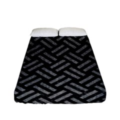 Woven2 Black Marble & Gray Denim (r) Fitted Sheet (full/ Double Size) by trendistuff