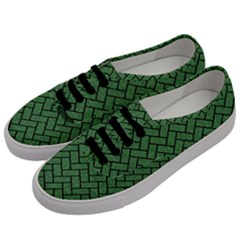 Brick2 Black Marble & Green Denim Men s Classic Low Top Sneakers by trendistuff