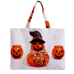 Funny Halloween Pumpkins Zipper Mini Tote Bag by gothicandhalloweenstore