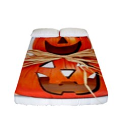 Funny Halloween Pumpkins Fitted Sheet (full/ Double Size) by gothicandhalloweenstore