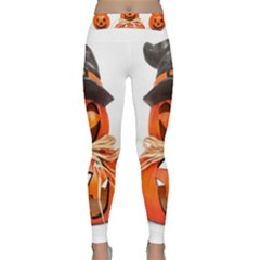 Funny Halloween Pumpkins Classic Yoga Leggings by gothicandhalloweenstore